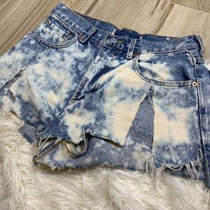 Levi's Shorts - Levi's Distressed Bleached High Rise Cut Off Short